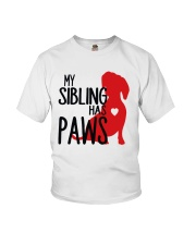 My Sibling Has Paws  Youth T-Shirt tile
