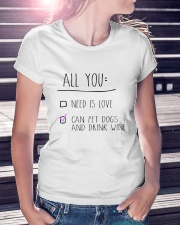 All You Need Ladies T-Shirt lifestyle-women-crewneck-front-7