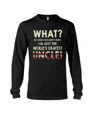 I'm Just The World's Okeyest Uncle Long Sleeve Tee thumbnail