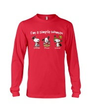 I'm A Simple Woman Long Sleeve Tee front