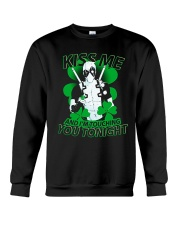 Kiss Me And I'm Touching You Tonight Crewneck Sweatshirt thumbnail