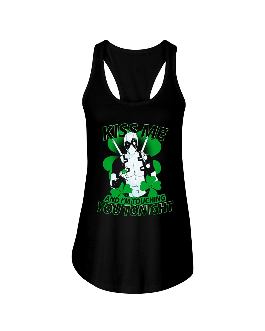Kiss Me And I'm Touching You Tonight Ladies Flowy Tank