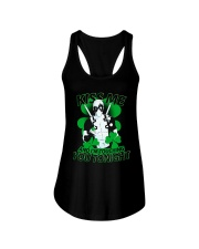 Kiss Me And I'm Touching You Tonight Ladies Flowy Tank front