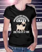 One Pug At A Time Ladies T-Shirt lifestyle-women-crewneck-front-7