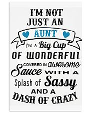 Not Just An Aunt 24x36 Poster front