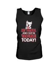 My Pitbull And I Got In Trouble Today Unisex Tank thumbnail