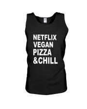 Netflix Vegan Pizza Chill Unisex Tank thumbnail