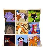 Cute Cats Square Pillowcase back
