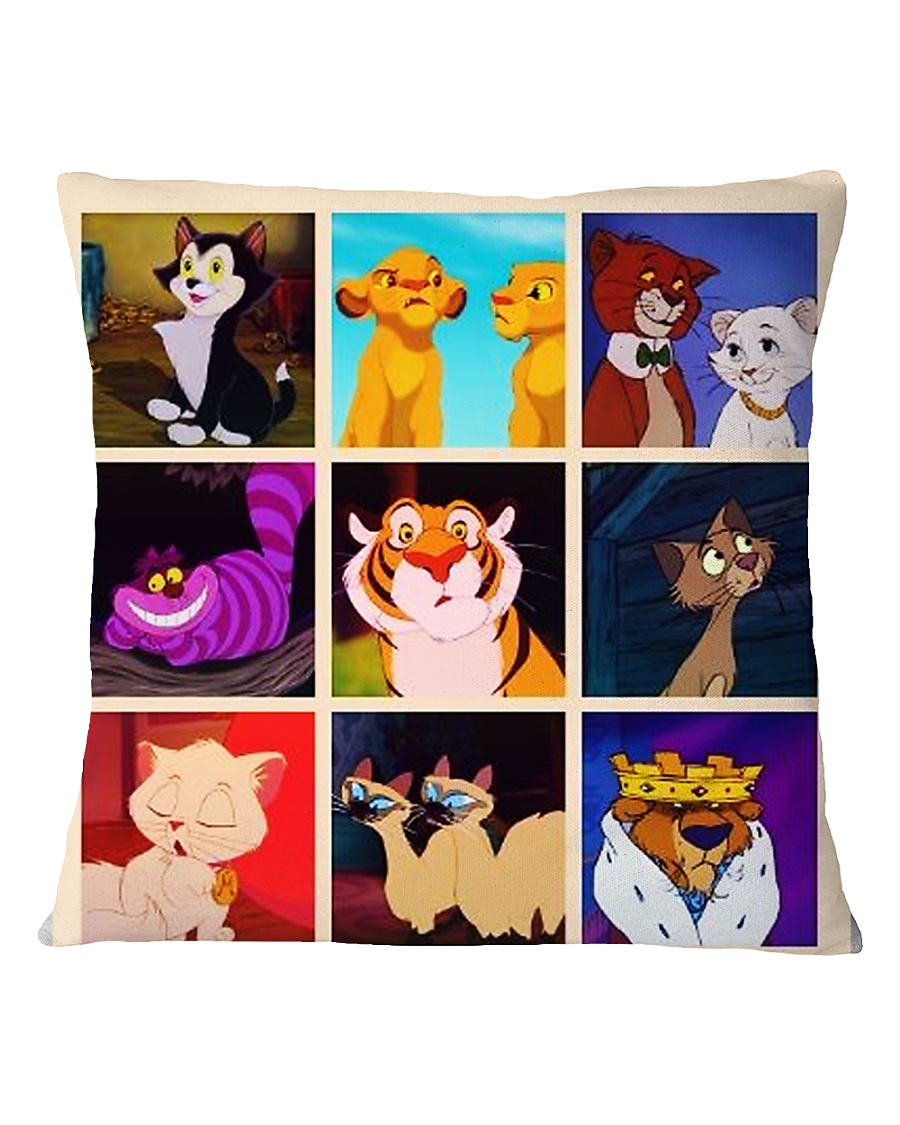 Cute Cats Square Pillowcase