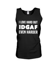 I Love Hard But IDGAF Even Harder Unisex Tank thumbnail