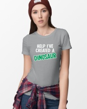 Help I Created A Dinosaur Ladies T-Shirt lifestyle-women-crewneck-front-9