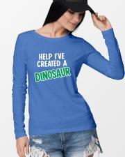Help I Created A Dinosaur Long Sleeve Tee lifestyle-unisex-longsleeve-front-4