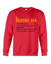 Powerful Mom Crewneck Sweatshirt front