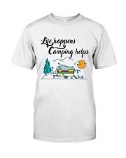 Life Happens Camping Helps Classic T-Shirt thumbnail