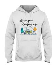 Life Happens Camping Helps Hooded Sweatshirt thumbnail