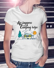 Life Happens Camping Helps Ladies T-Shirt lifestyle-women-crewneck-front-7