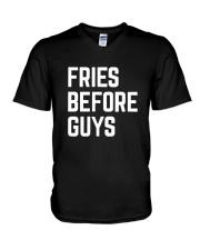 Fries Before Guys V-Neck T-Shirt thumbnail