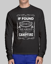 If Found Return To Nearest Campfire Long Sleeve Tee lifestyle-unisex-longsleeve-front-1