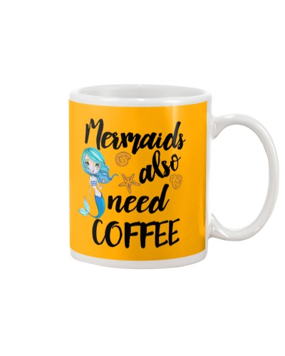 Unicorn- Mermaids Also Need Coffee