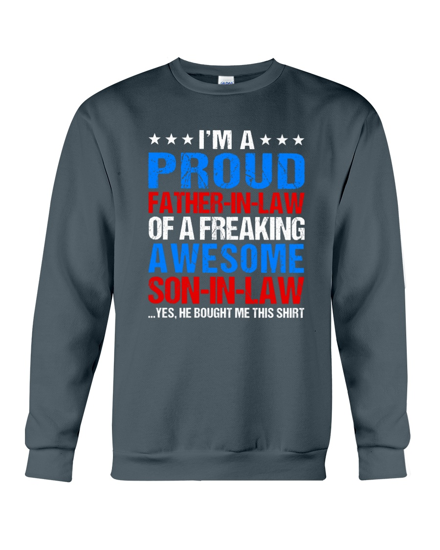 I'm A Proud Father-In-Law Crewneck Sweatshirt