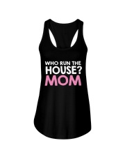 Who Run The House Ladies Flowy Tank tile