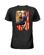 Highland cattle Flag Ladies T-Shirt thumbnail