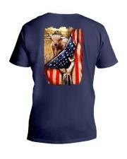 Highland cattle Flag V-Neck T-Shirt thumbnail