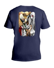Rooster California Flag V-Neck T-Shirt thumbnail
