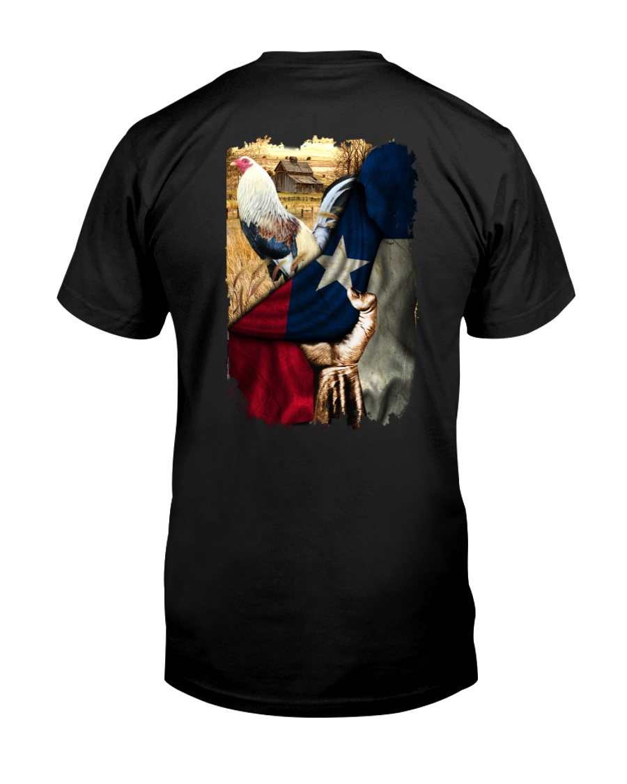 Rooster Texas Flag Classic T-Shirt