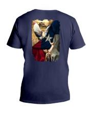 Rooster Texas Flag V-Neck T-Shirt thumbnail