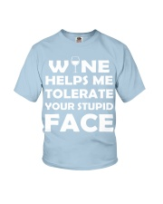 Wine tolerate Youth T-Shirt tile