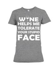 Wine tolerate Premium Fit Ladies Tee thumbnail