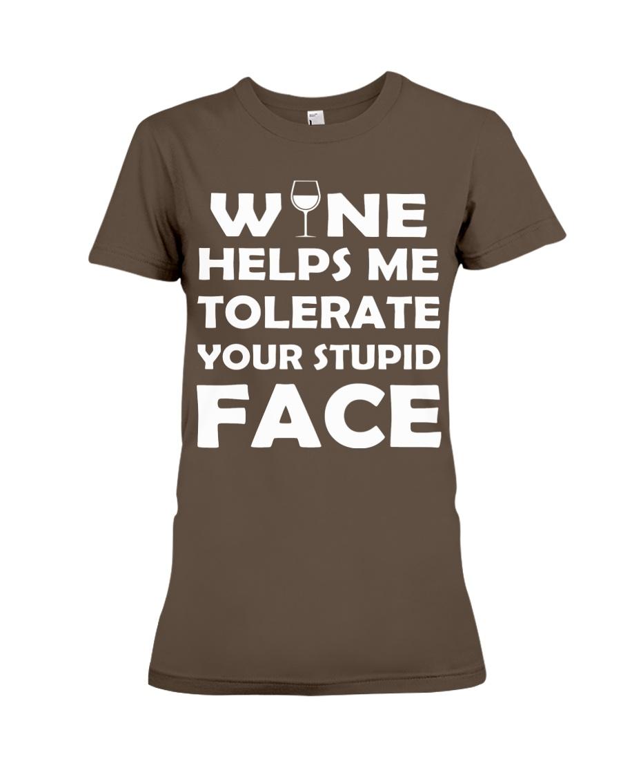 Wine tolerate Premium Fit Ladies Tee