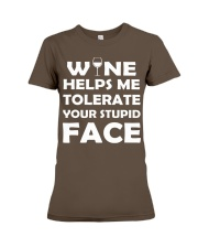 Wine tolerate Premium Fit Ladies Tee front