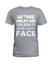 Wine tolerate Ladies T-Shirt tile