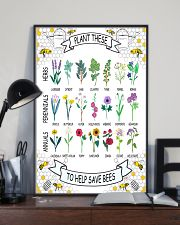 PLANT THESE TO HELP SAVE BEES 24x36 Poster lifestyle-poster-2