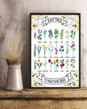 PLANT THESE TO HELP SAVE BEES 24x36 Poster lifestyle-poster-3