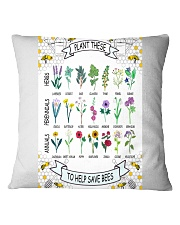 PLANT THESE TO HELP SAVE BEES Square Pillowcase tile