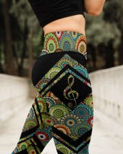 Mandala G clef High Waist Leggings aos-high-waist-leggings-lifestyle-11