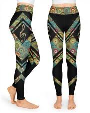 Mandala G clef High Waist Leggings front