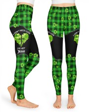 I Don't Need Luck St Patrick's Day  High Waist Leggings front