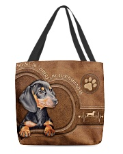 When I Need A Hand Leather Pattern Print All-over Tote front