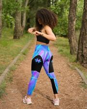 Autism Piece High Waist Leggings aos-high-waist-leggings-lifestyle-17