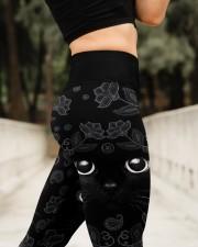 Lovely Black Cat High Waist Leggings aos-high-waist-leggings-lifestyle-11
