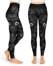 Lovely Black Cat High Waist Leggings front