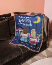 """I Love You To The Moon And Back Valentine Small Fleece Blanket - 30"""" x 40"""" aos-coral-fleece-blanket-30x40-lifestyle-front-05a"""