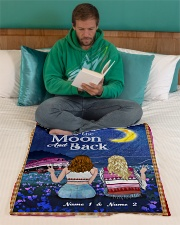 """I Love You To The Moon And Back Valentine Small Fleece Blanket - 30"""" x 40"""" aos-coral-fleece-blanket-30x40-lifestyle-front-06"""