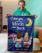 """I Love You To The Moon And Back Valentine Small Fleece Blanket - 30"""" x 40"""" aos-coral-fleece-blanket-30x40-lifestyle-front-09"""