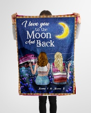 """I Love You To The Moon And Back Valentine Small Fleece Blanket - 30"""" x 40"""" aos-coral-fleece-blanket-30x40-lifestyle-front-14"""