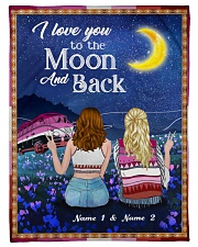 """I Love You To The Moon And Back Valentine Small Fleece Blanket - 30"""" x 40"""" front"""